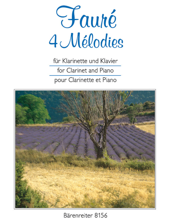 Fauré: Four Melodies for Clarinet & Piano