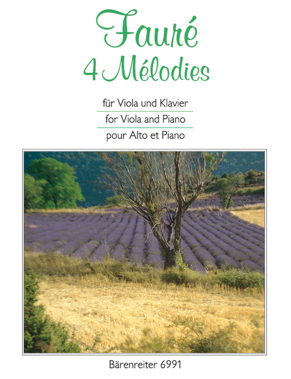 Fauré: 4 Melodies for Viola & Piano