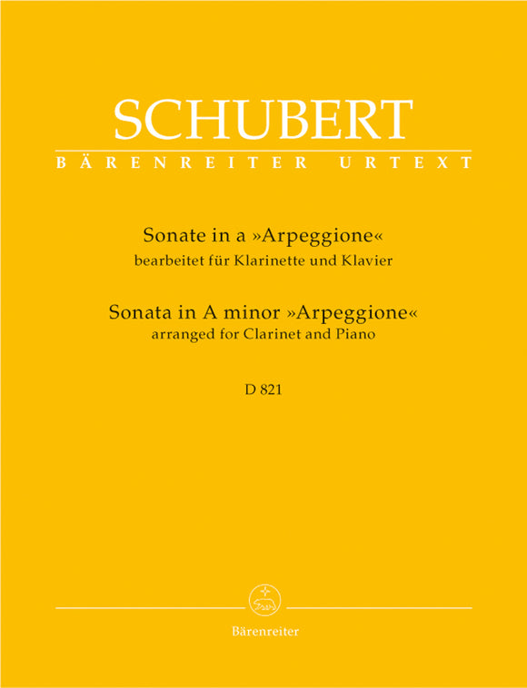 Schubert: Arpeggione Sonata A Minor for Clarinet & Piano