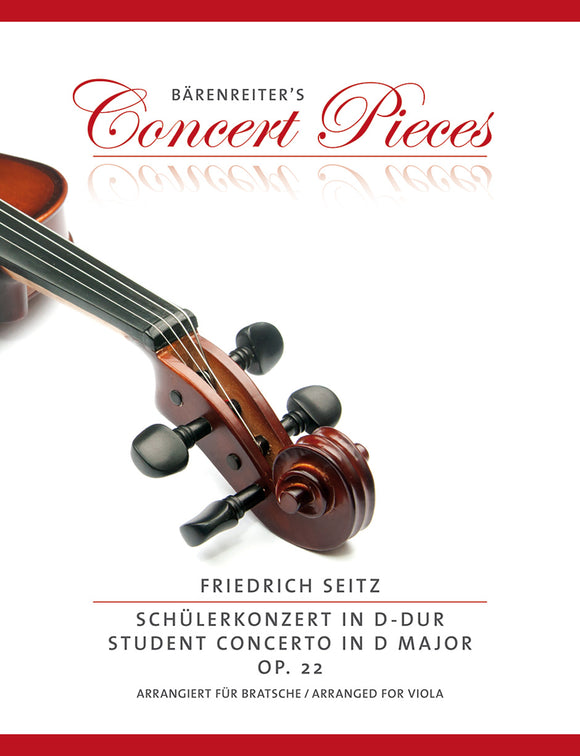 Seitz: Student Concerto in D Major Op 22 for Viola & Piano