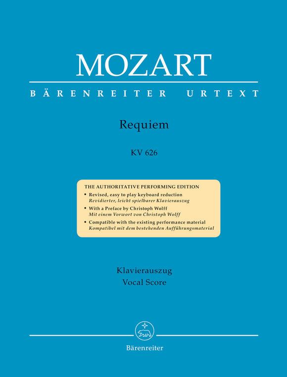 Mozart: Requiem in D K626 - Vocal Score
