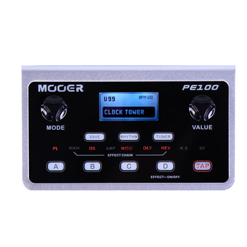MOOER PE100 Portable Guitar Effects