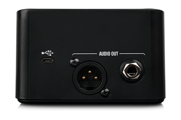 Relay G10 guitar wireless by Line 6 charging while docked on an AMPLIFi 75