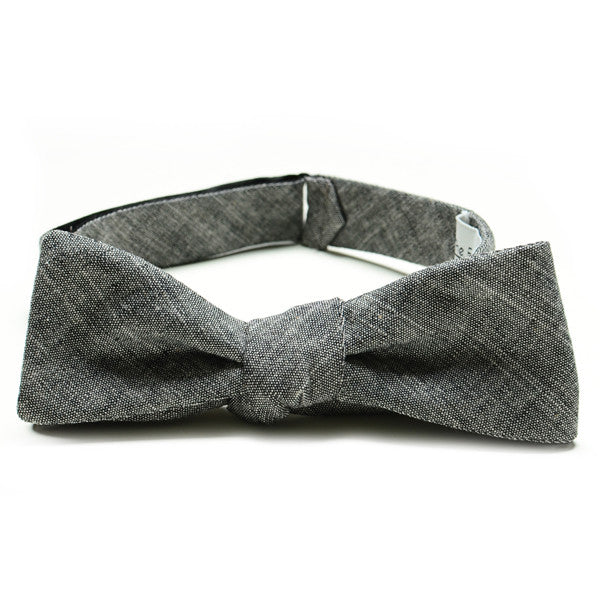 The Essential Bow Tie - Black Chambray