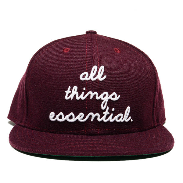 """All Things Essential"" Ball Cap - Maroon"