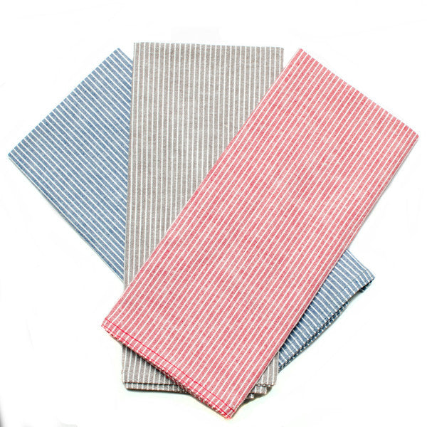 The Essential Handkerchief - Stripe Chambray