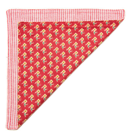 The Essential Pocket Square - Red Floral