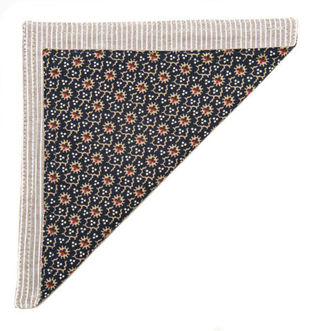 The Essential Pocket Square - Japanese Floral Dot