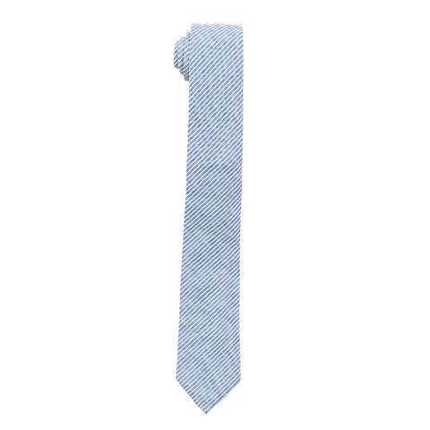 The Essential Tie - Blue/White Stripe Chambray