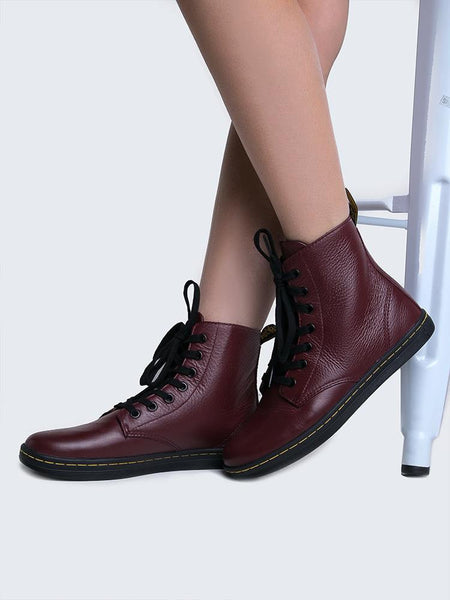 Doc Martens Leyton OxBlood Red Sneakers