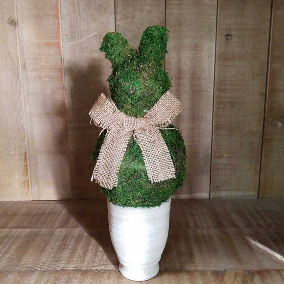 Small Moss Bunny Pot 14