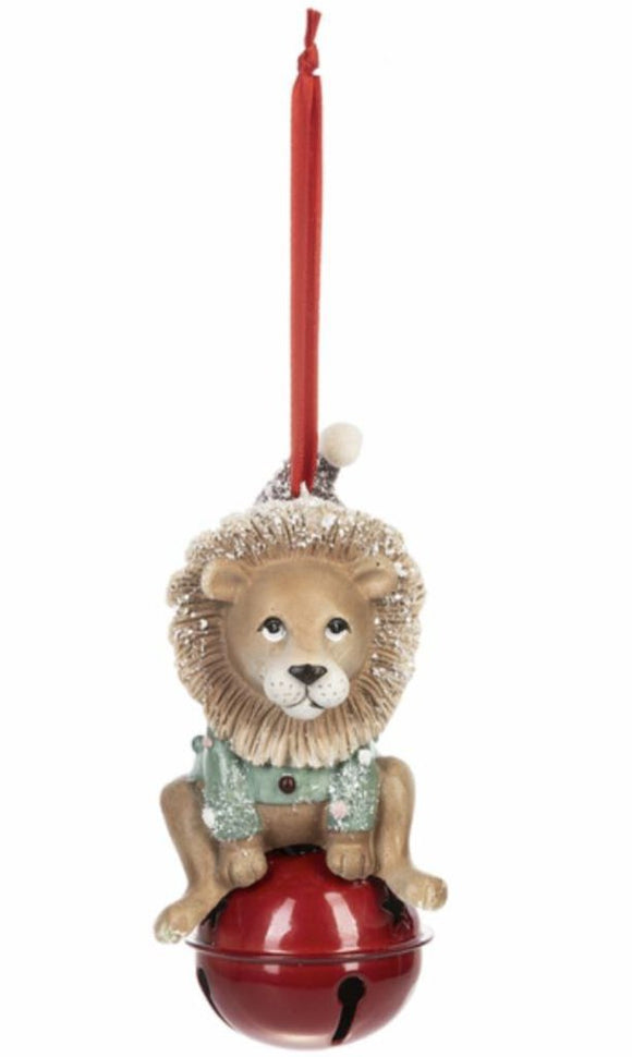 14269 Lion Jingle Bell Ornament