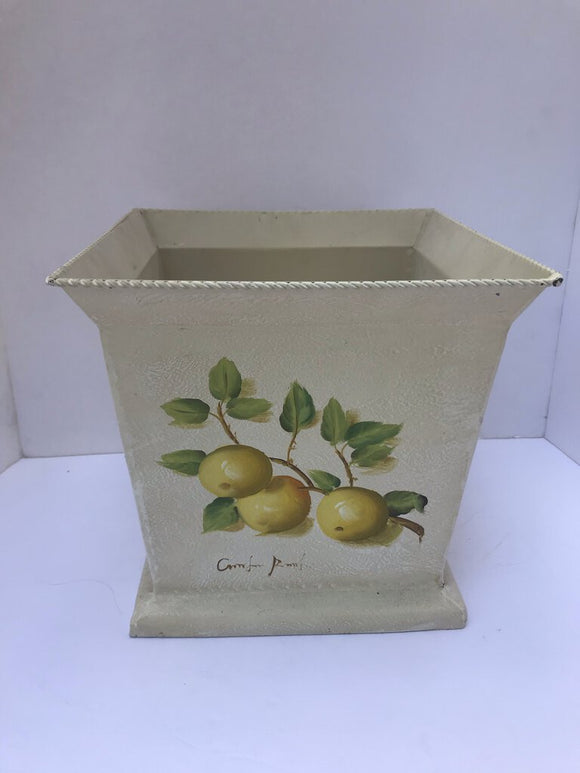 11973 Handpainted Lemon Planter