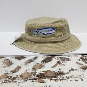 HAT - Youth Khaki Bucket - Whale Family, 63-217