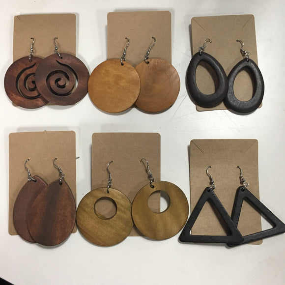 Wood Brown Earrings