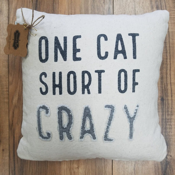 One cat short pillow 10