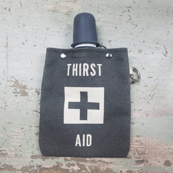 Thirst aid portable water canteen