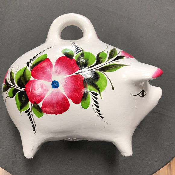 Small Piggy Bank - Plaster - Approx 8 in L