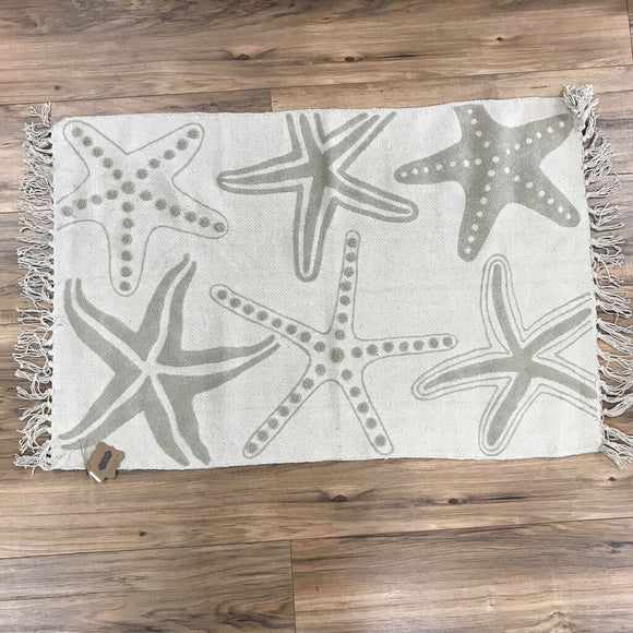 13907 Starfish Embroidered Rug