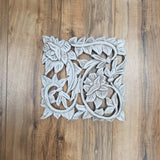 White/Carved Wood Wall Decor