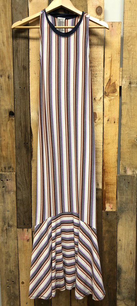 Free People Sleeveless Strip Maxi Dress