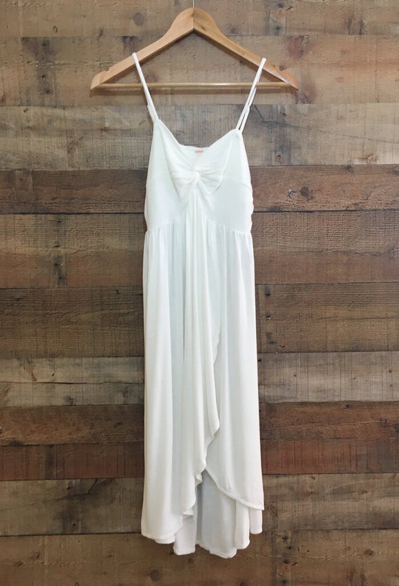 Free People White Side Swept Tunic (M)