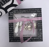 "12815 Silver ""Mom"" Charm Necklace"