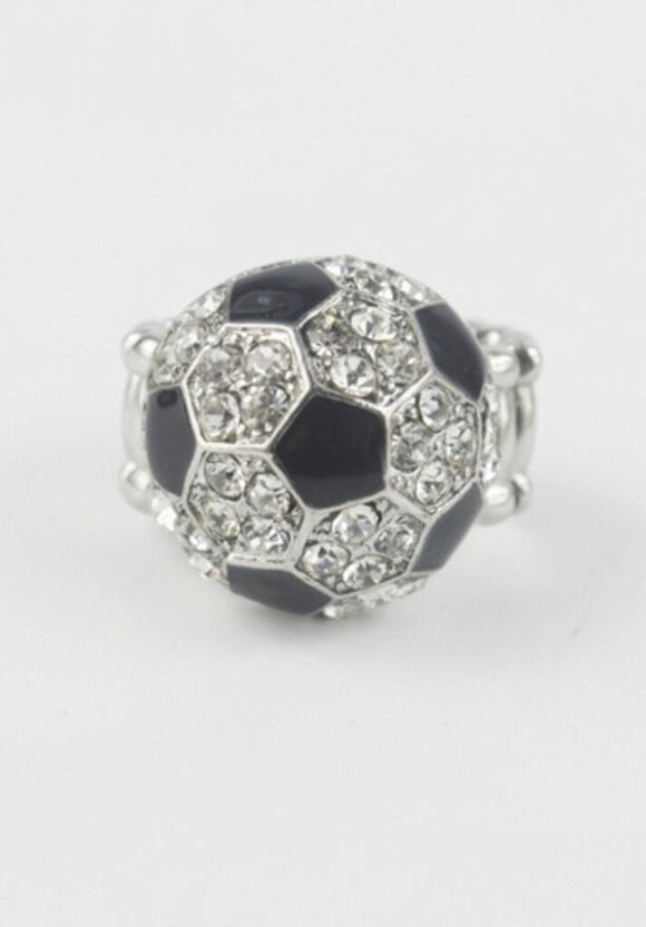 13966 Soccer Ball Stretch Ring