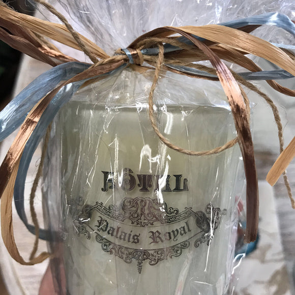 Zodax Wrapped Candle-Fresh Linen
