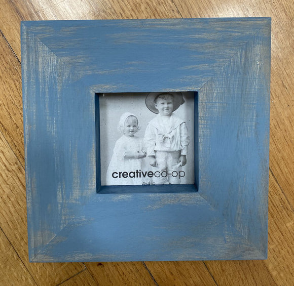 C26 Hand Painted Wood Frames in French Blue