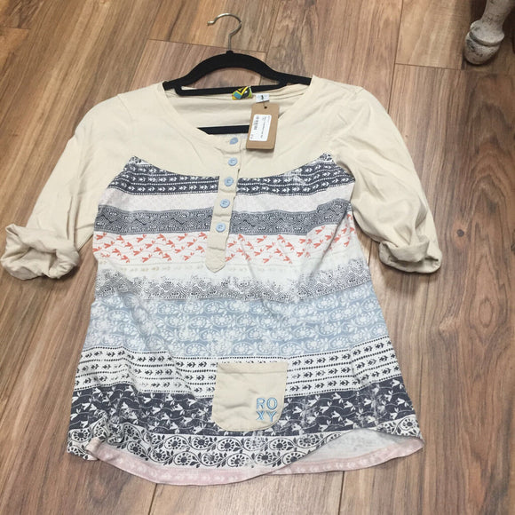 Roxy Cream/Multi Color Shirt ( XL)