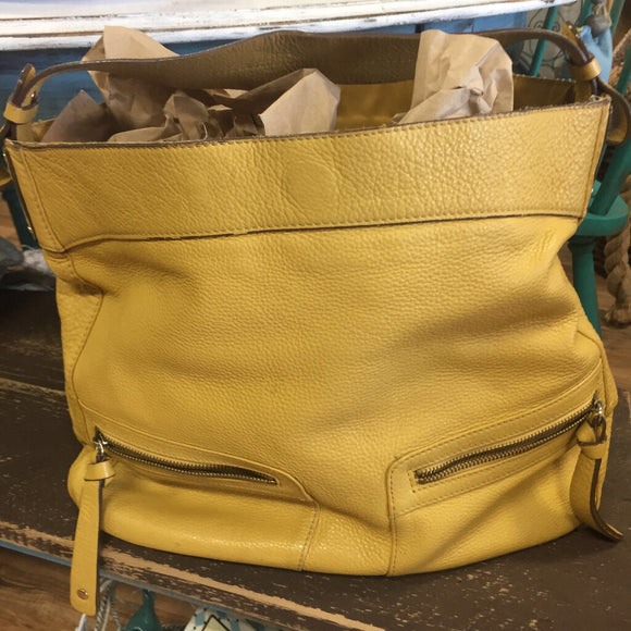 LC Sunshine Yellow Leather Handbag