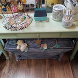 "Console Table/Desk painted w/ Fusion Mineral Paint ""Upper Canada""48""W x 16""D x 29""TD"