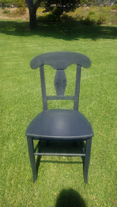 Dining Chair in Ash/Black Made in Italy