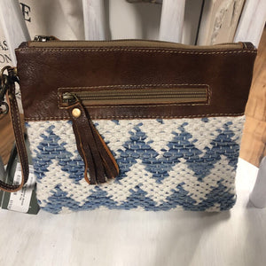 Myra Bag Summer Breeze Pouch. Leather & rug
