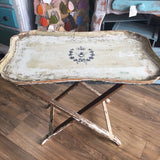 Gorgeous Chippy French Vintage Pull down Tray