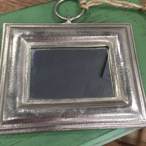 Hanging Pewter Mirror