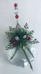 13764 Mistletoe Kissing Crystal Ornament-4""