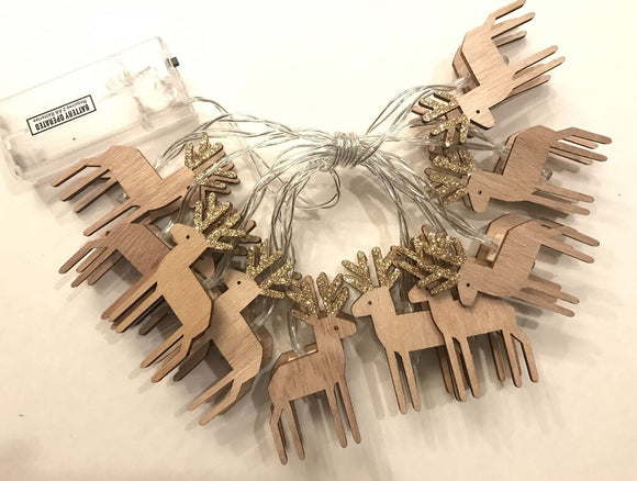 14080 Wood Deer LED String Light-32