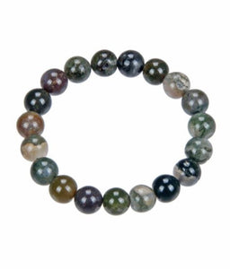 14099-India Agate Stone Stretch Bracelet-8mm