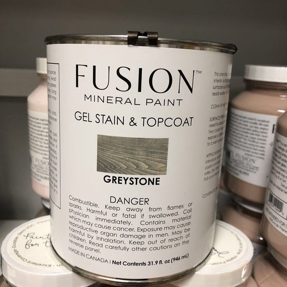 Fusion Mineral PaintGel Stain & Topcoat Greystone 946 ml