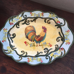Farmhouse Rooster Serving Platter