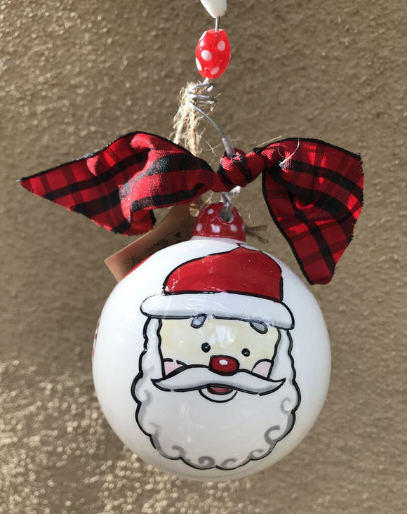 14028 Peppermint Santa Ornament