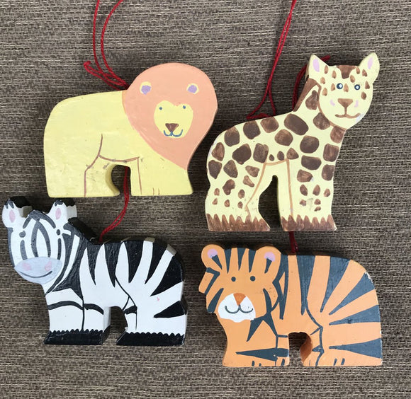 Baby Animal Ornament-Assorted, Wood