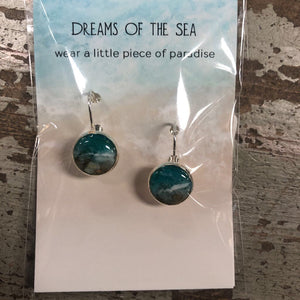 Local Sand Silver Plated Earrings-Round