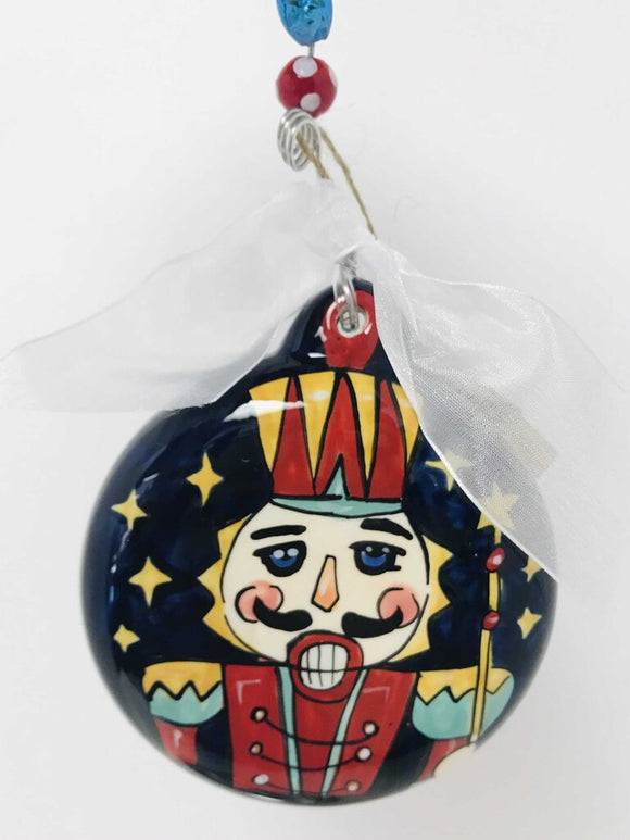 14175 Nutcracker Blue Puff Ornament