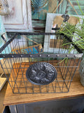 Wire Basket With Medallian