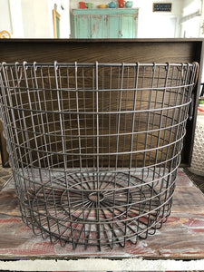 "Metal Basket w/ Handles 14.5""H,18""around"