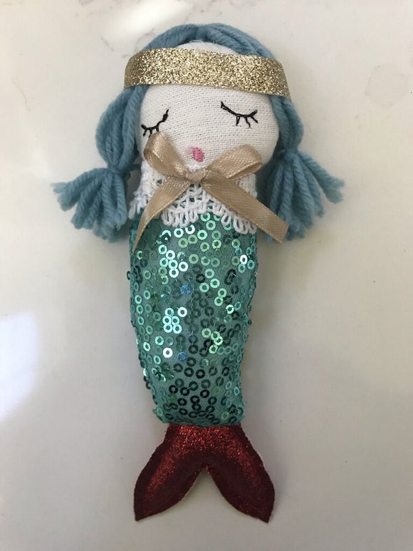 14215 Mermaid Ornament, Sequins/Poly 6.5h