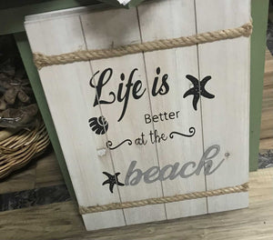 14212 Life Is Better At The Beach Sign, 12w x 16h